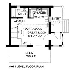Of the three similar plans, this one has the best potential for a dining area, and the loft bedroom has full height ceilings due to the full dormers.