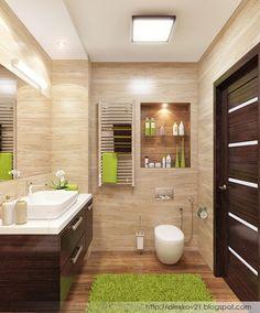 """Дизайн-бюро """"Двоеточие"""": Эко-стиль в ванной комнате"""