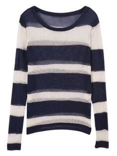 Top Quality Stripe Pointelle Loose Jumper Ads Buying