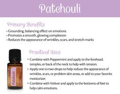 Here you can learn about doTERRA Patchouli essential oil uses with recipes. I explain all about patchouli and all the ways you can use it and how to use it. Relaxing Essential Oil Blends, Essential Oils For Pain, Clary Sage Essential Oil, Doterra Essential Oils, Young Living Essential Oils, Patchouli Oil, Patchouli Essential Oil, Rose Essential Oil, Oil For Stretch Marks