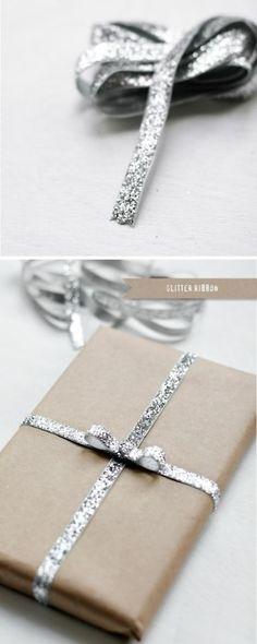 Glitter Christmas ribbon