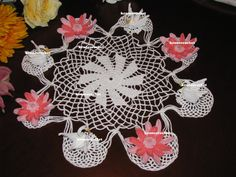 Made to order.  These beautiful center piece measures 14 and 24 (picture 2) across. A lot of intricate details in these doilies.. They will arrive