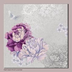 Flowers  Butterflies Wall Art by Monsoon - Floral Metallic Wall Coverings by Graham  Brown