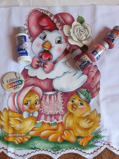 Chicken Quilt, Fairy Crafts, Farm Art, Embroidery Transfers, Coq, Vintage Embroidery, Colorful Drawings, Acrylic Art, Girly