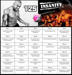 Shaun T hybrid calendar Fitness Motivation, Fitness Tips, Health Fitness, T25 Workout, T 25 Workout Schedule, Workout Exercises, Workout Ideas, Workout Challenge, Workout Calendar