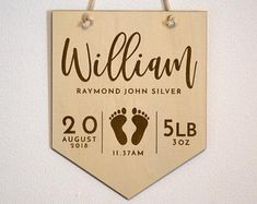 Laser cut personalised gifts and decorations por BirchandTides Engraved Gifts, Personalized Gifts, Wedding Thank You Gifts, 3d Cnc, Baby Name Signs, Heart Crafts, Baby Keepsake, Baby Nursery Decor, Flag Design
