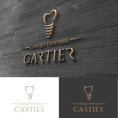 Clinique Dentaire Cartier - create an edgy yet modern and classic logo for a new and blooming dental clinic. Dental office trying to attract more foot traffic , the logo will be used in our website , our signage , pan flets,fl. Dental Clinic Logo, Dentist Logo, Dentist Clinic, Clinic Interior Design, Clinic Design, Dental Art, Dental Office Design, Logo Inspiration, Sign Design
