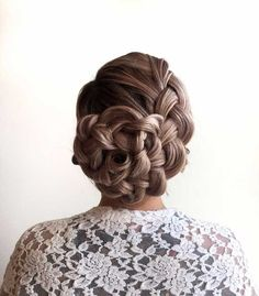 Best Hairstyles for Brides - Wound Up Braided Updo - Amazing Hair Styles and Looks for Half Up Medium Styles, Updo With Long Hair, Short Curls, Vintage Looks with Veil, Headpieces, or With Tiara - Wedding Looks for Girls With Round Faces - Awesome Simple Bridal Style With Headband or Elegant Braided Up Dos - thegoddess.com/hairstyles-for-brides