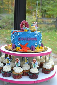 Ariel Cake, Birthday Cake, Desserts, Projects, Food, Log Projects, Birthday Cakes, Deserts, Dessert