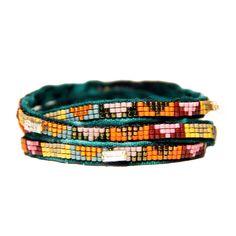 My design inspiration: Heartthrob Wrap Bracelet on Fab. Bohemian Style Jewelry, Gypsy Jewelry, Jewlery, Handmade Bracelets, Beaded Bracelets, Wrap Bracelets, Bangles, Crafty Craft, Bead Crochet