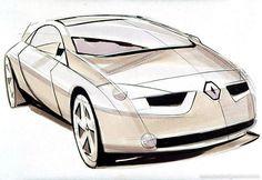 OG | 2002 Renault Megane Coupé MK2 | Design sketch