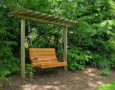 It is wonderful and enchanting idea to design pergola with swing. You can design pergola with swing in square, round or pentagon shape. You can add one or more swings in pergola, which you like most. Pergola D'angle, Pergola Design, Wooden Pergola, Pergola Shade, Pergola Ideas, Cheap Pergola, Outdoor Ideas, Pergola Lighting, Rustic Pergola