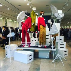 """GALERIES LAFAYETTE, Paris, France, """"Dear Fashion... We Are Ready"""", for Paris Fashion Week, photo by Jacob Hsu, pinned by Ton van der Veer"""