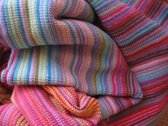 Ravelry: My Year in Temperatures -Scarf- pattern by Kristen Cooper Crochet Blanket Patterns, Baby Blanket Crochet, Knitting Patterns, Crochet Blankets, Afghan Crochet, Knitting Ideas, Crochet Scarves, Baby Blankets, Afghan Loom