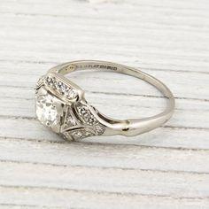 Antique 75 Carat Diamond Engagement Ring