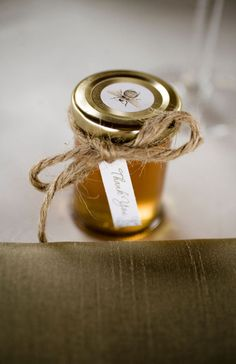Glass Honey Wedding Favor