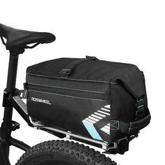 ROSWHEEL 6L Bicicleta Bolsa Tronco trasero Bolsa Waterprrof Bicicleta paquete Pannier con correa de hombro Bolsa