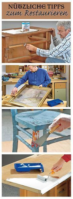 Chipped veneer, obsolete picture frames or a broken room door: We'll show you useful tips for restoring different furniture The post Restore furniture appeared first on Garden ideas - Upcycled Home Decor Woodworking Guide, Custom Woodworking, Woodworking Projects Plans, Teds Woodworking, Furniture Plans, Furniture Makeover, Wood Furniture, Furniture Design, Upcycled Home Decor