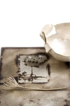 Silver bowl, silver plant and silver tray  Miranda Meilleur