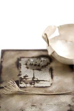 Silver bowl, silver plant and silver tray  Miranda Meilleur
