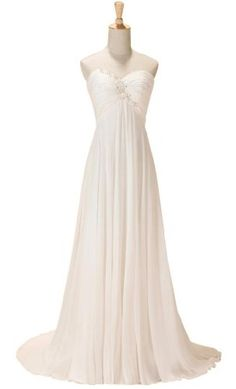 GEORGE DESIGN 2014 New Sweetheart Empire Ruched Beach Wedding Dress Size 8 Ivory GEORGE BRIDE,http://www.amazon.com/dp/B00CCW4XIY/ref=cm_sw_r_pi_dp_Ta.Etb0NSBA5CF13