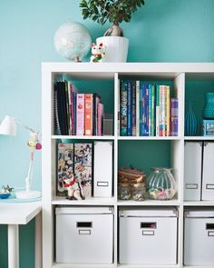 Adaptable pieces such as shelving units are useful for storing school books