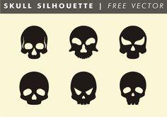 Skull Silhouette Free Vector Skull Silhouette, Silhouette Vector, Diy Halloween Decorations, Halloween Diy, Vector Clipart, Vector Art, Skull Logo, Character Art, Darth Vader
