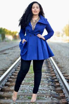 An empire waist is a great way to appear slimmer, especially when wearing a coat or dress. Love this coat. #outerwear