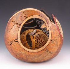 Gourd Art by Bonnie Gibson  OMG!  I just wish my gourd work could ever be this good.
