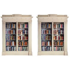 Pair of George III Painted Bookcases