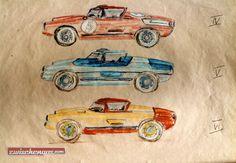 Enzmann 506 - Leichtgewichts-Sportwagen wie aus dem Kanonenrohr © Archiv Enzmann #Enzmann506 #Enzmann #Skizze #zwischengas #classiccar #classiccars #oldtimer #oldtimers #auto #car #cars #vintage #retro #classic #fahrzeug
