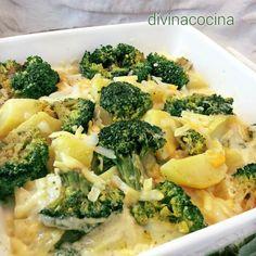 Brocoli con patatas y queso