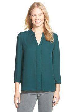 Free shipping and returns on Halogen® Fringe Trim Split Neck Blouse (Regular & Petite) at Nordstrom.com. Short fringe trims the faux placket and shoulder seams of a soft crepe blouse fashioned with billowy bracelet-length sleeves.
