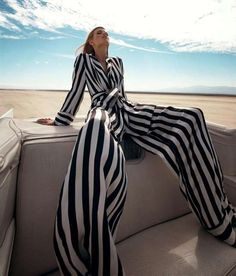 Photoshoots with stripes | From Exotic Escapist Editorials to Gym Rope Swimsuits