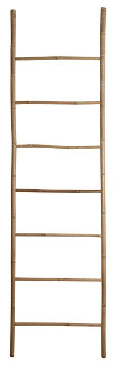 Porte serviette en bambou échelle H150cm DELAMAISON Déco boutique - porte serviette a poser