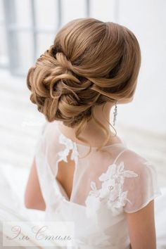This beautiful updo bridal hairstyle perfect for any wedding venue - Beautiful wedding hairstyle Get inspired by fabulous wedding hairstyles,low bridal updo hairstyle Low Bridal Updo, Bridal Braids, Wedding Braids, Braided Hairstyles For Wedding, Bride Hairstyles, Down Hairstyles, Pretty Hairstyles, Bridesmaid Hair, Prom Hair