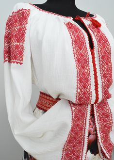 Ie Romaneasca Anica - Chic Roumaine Folk Costume, Costumes, Beaded Embroidery, Bell Sleeve Top, The Incredibles, Culture, Traditional, Chic, Floral