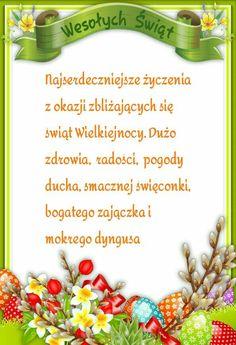 Kartka świąteczna 🐇🐣🐤🐇🐣🐤🐇🐣🐤 Wish, Scrapbooking, Cards, Humor, Food, Polish, Easter Activities, Gifts, Humour