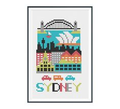 Sydney Australia Cross Stitch Pattern Instant Download