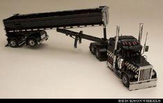 Peterbilt 379 Black Cat Lowrider: A LEGO® creation by Bricksonwheels MOC : MOCpages.com