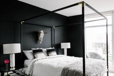 matte black bedroom! Looks like the one at #cb2