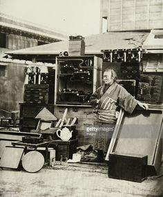'A varnish ware dealer from Jocohama'. 1869/70. Photograph by Wilhelm Burger (No. 698). (Photo by Imagno/Getty Images)