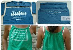 Refashion Old T-shirt To Tank Top – DIY-Summer is around the corner and a lot of us get rid of old stuff we don't need anymore in order to get new things. Spring and summer are great