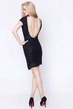 Secret Pal sequin dress black by thesecretPal on Etsy, $494.00