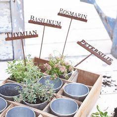 Kräuterstecker-Set, 4-tlg. #impressionen #living #garden