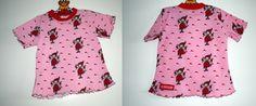Der Sommer kann kommen!    Dieses T-Shirt hat eine leicht ausgestellte Form und sieht mit dem welligen Saum einfach nur mädchenhaft, verträumt schön a