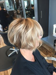 Blonde balayage // bob haircut instagram.com/colorbyaubrey