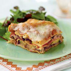 Lasagnes aubergine et courgette