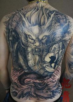 tattootopblog: Full back tattoo design