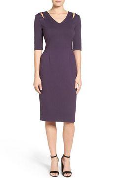 Halogen® Halogen® Cutout Shoulder Sheath Dress (Regular & Petite) available at #Nordstrom